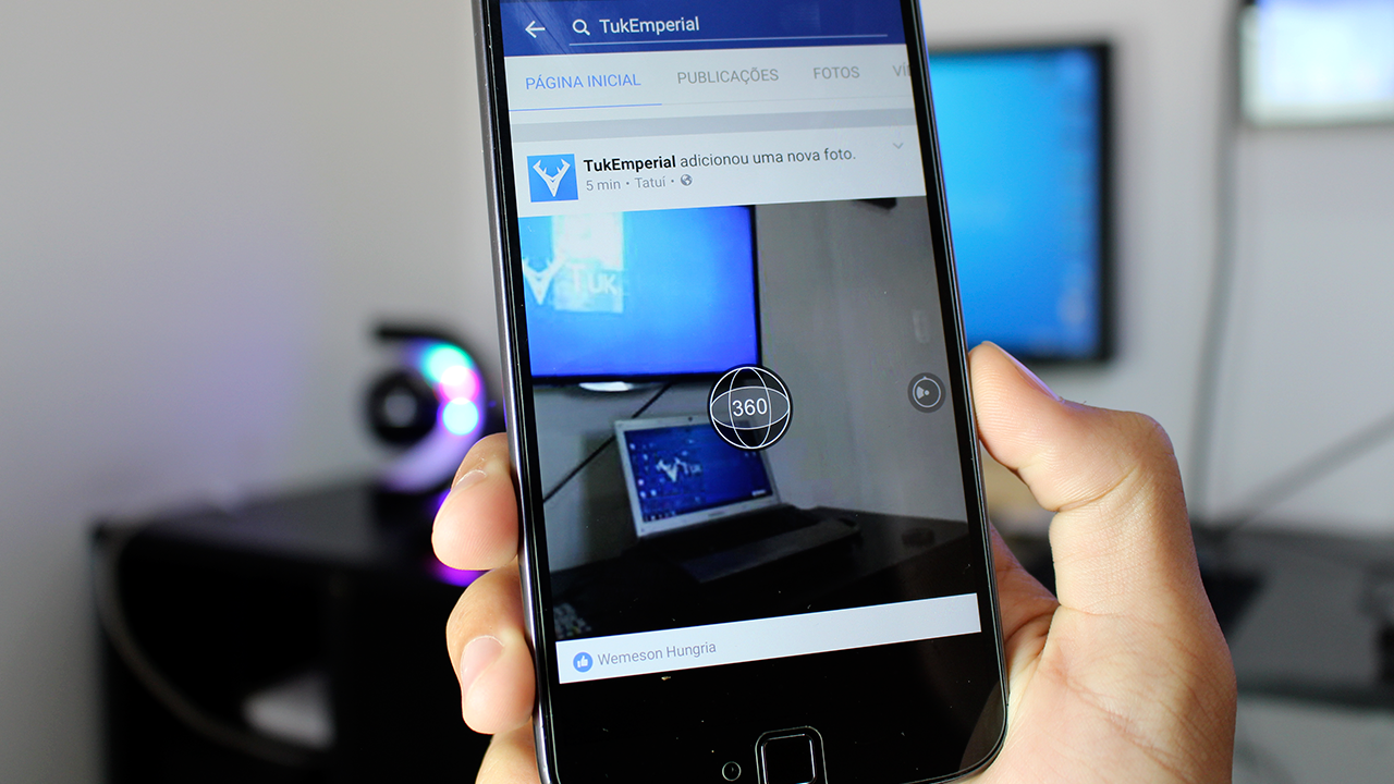 Como tirar fotos em 360 graus para postar no Facebook