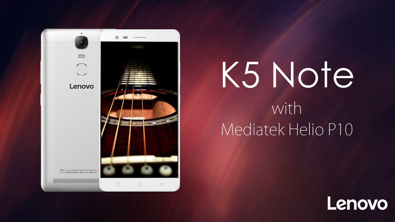 Lenovo anuncia K5 Note com 4GB de RAM
