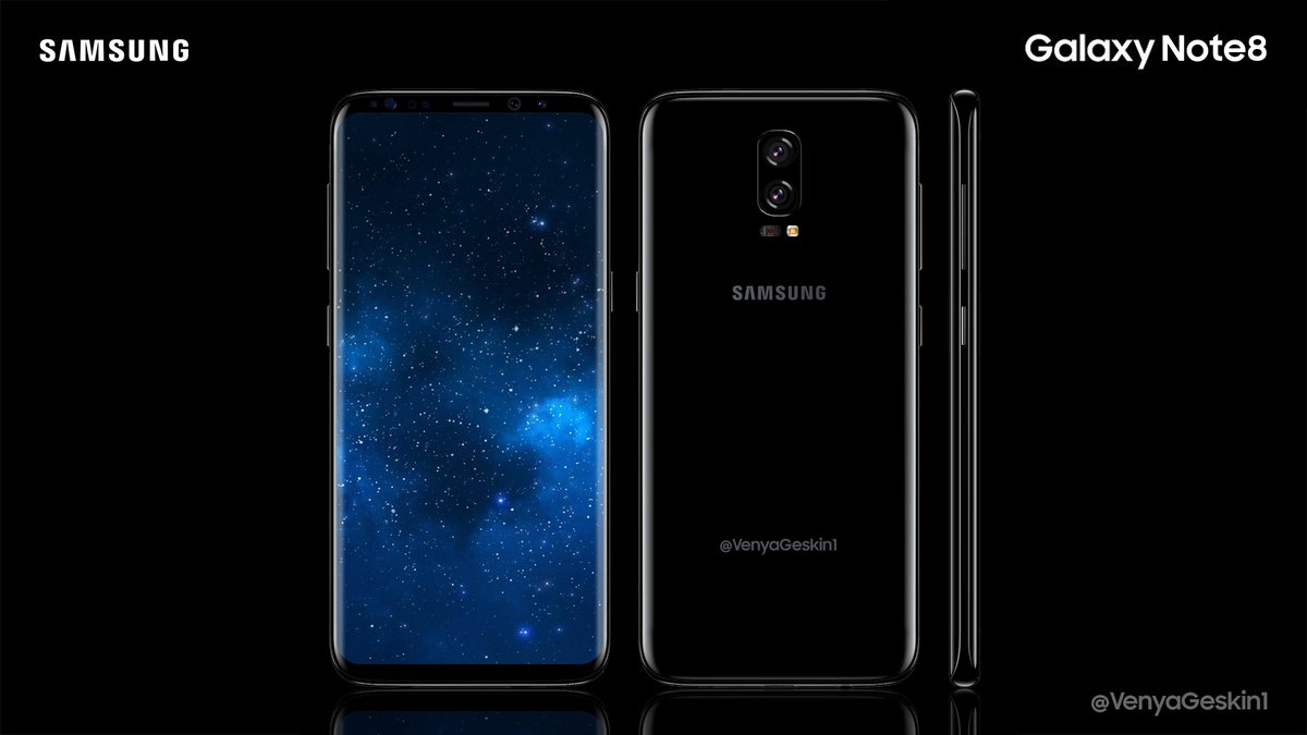 Galaxy Note 8 aparece em postêr e revela leitor de digitais na traseira